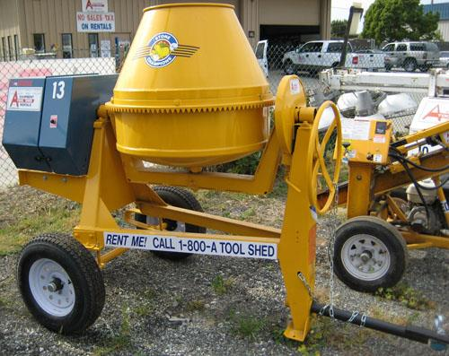 Where to find 9 CU FT TOWABLE GAS CONCRETE MIXER in Santa Cruz