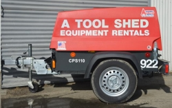 Rental store for 90 CFM TOWABLE DIESEL AIR COMPRESSOR in Santa Cruz CA